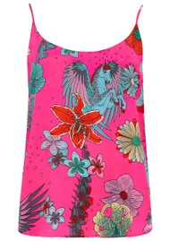 STARDUST Faye Camisole - Neon Pink Floral