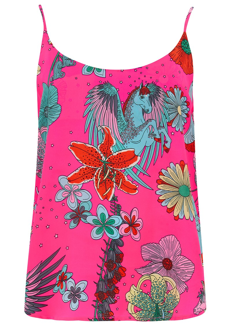 STARDUST Faye Camisole - Neon Pink Floral main image