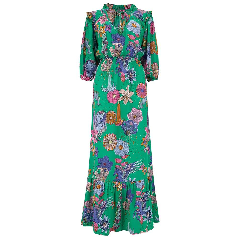 Jeanie Maxi Dress - Green Floral