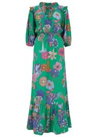 STARDUST Jeanie Maxi Dress - Green Floral