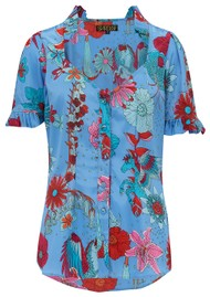 STARDUST Alice Blouse - Blue Floral