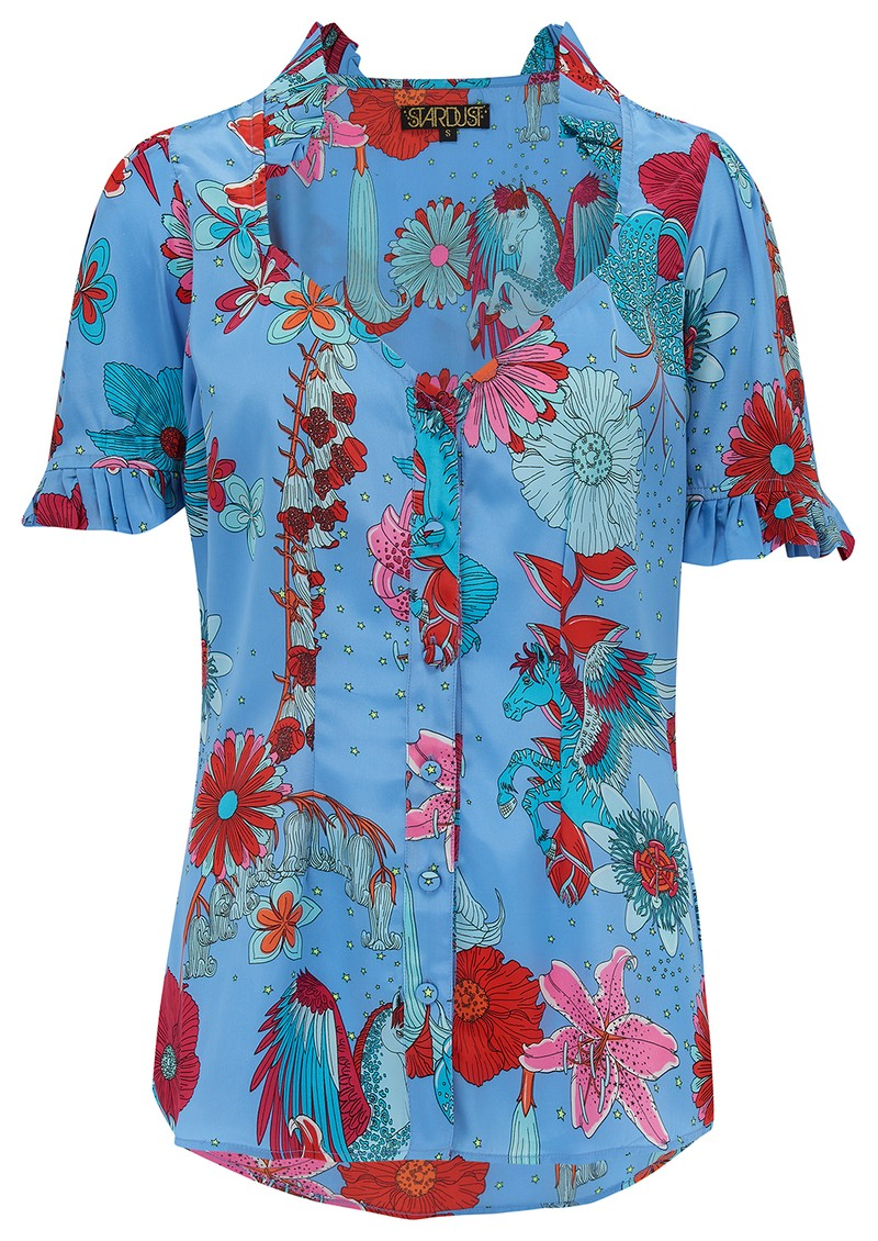 Alice Blouse - Blue Floral main image