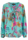 Money Penny Blouse - Teal Floral additional image
