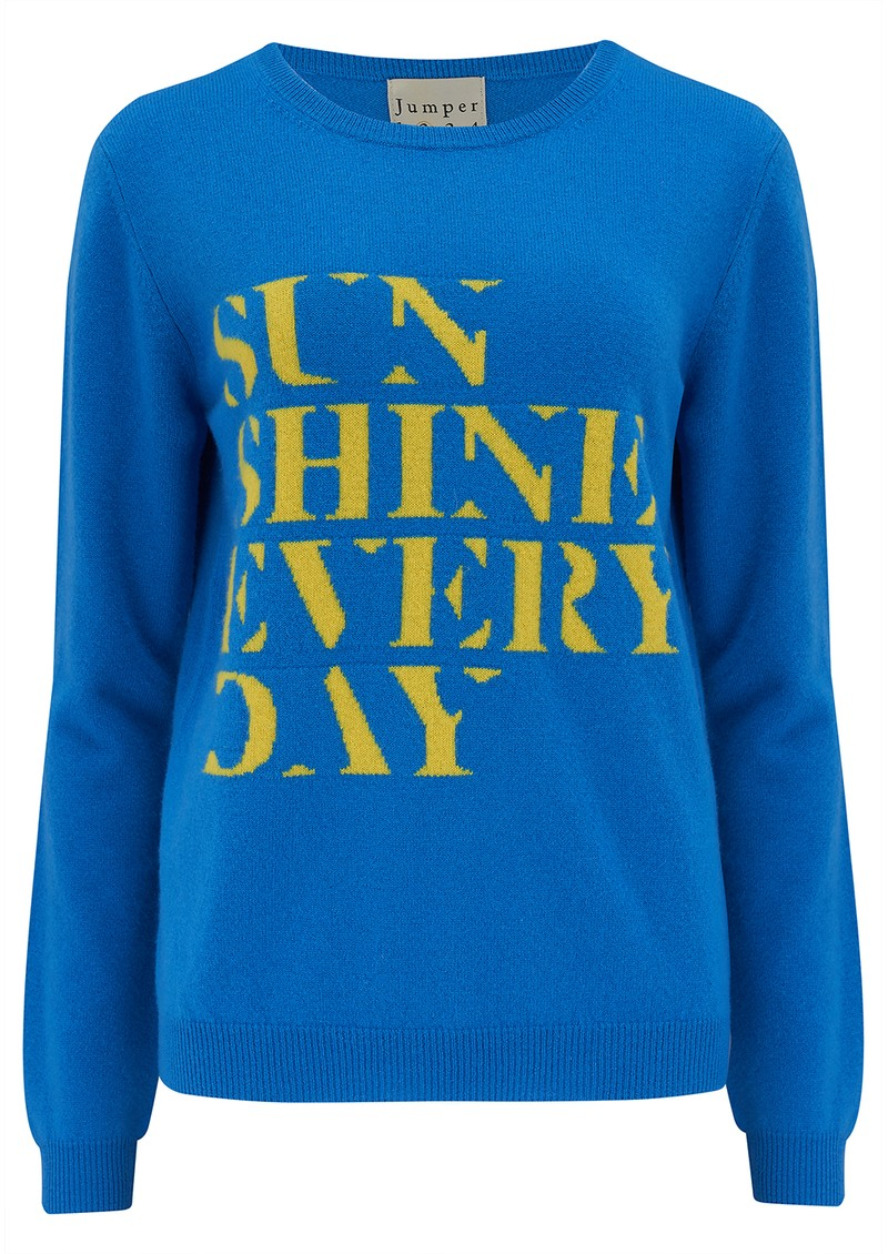 JUMPER 1234 Daily Sun Crew Cashmere Jumper - Sky Yellow main image