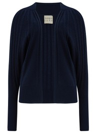 JUMPER 1234 Cable Cashmere Cardigan - Navy