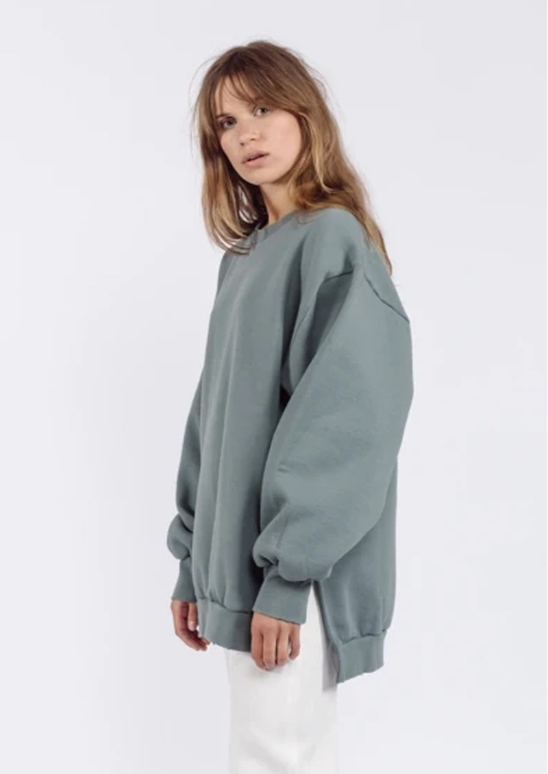 AME ANTWERP Ulla Oversized Sweatshirt - Green main image