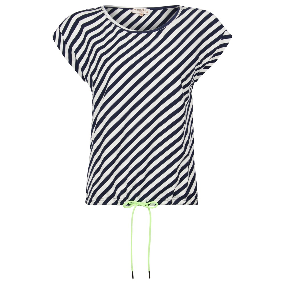 Matilda Cotton Top - Navy Stripe