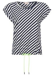 NOOKI Matilda Cotton Top - Navy Stripe