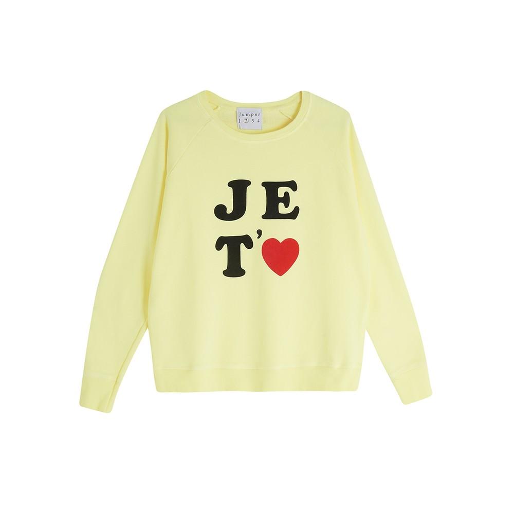 Je Taime Sweatshirt - Neon Yellow