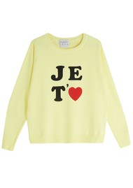 JUMPER 1234 Je Taime Sweatshirt - Neon Yellow