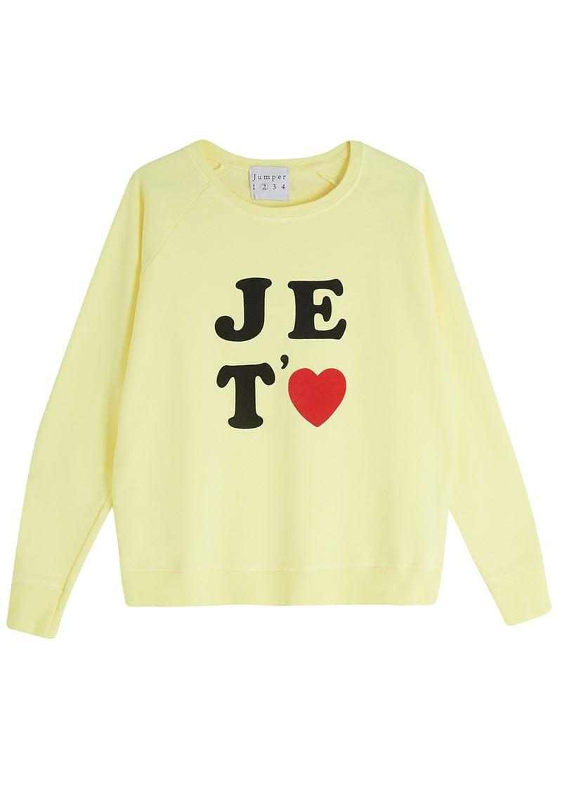 JUMPER 1234 Je Taime Sweatshirt - Neon Yellow main image