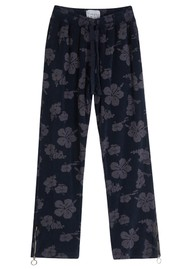 JUMPER 1234 Floral Cotton Terry Joggers - Navy