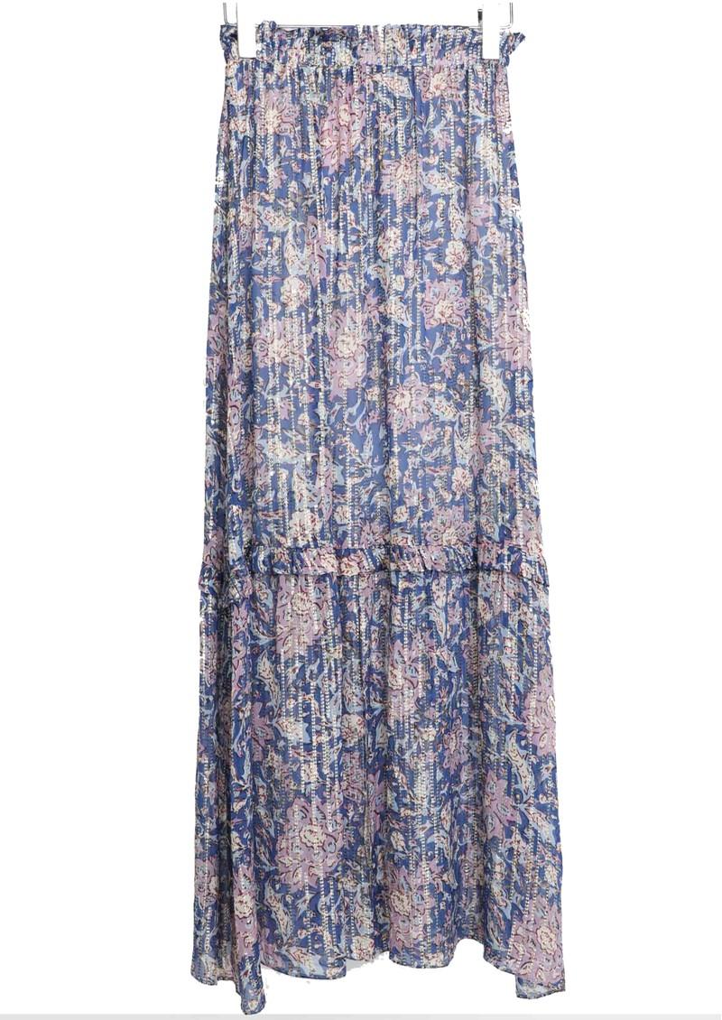 BERENICE Jomeo Maxi Printed Skirt - Santa Giulia main image