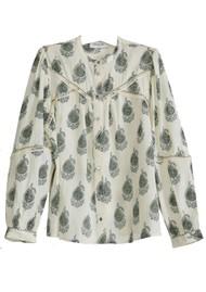 BERENICE Oversize Paisley Print Shirt - Khaki