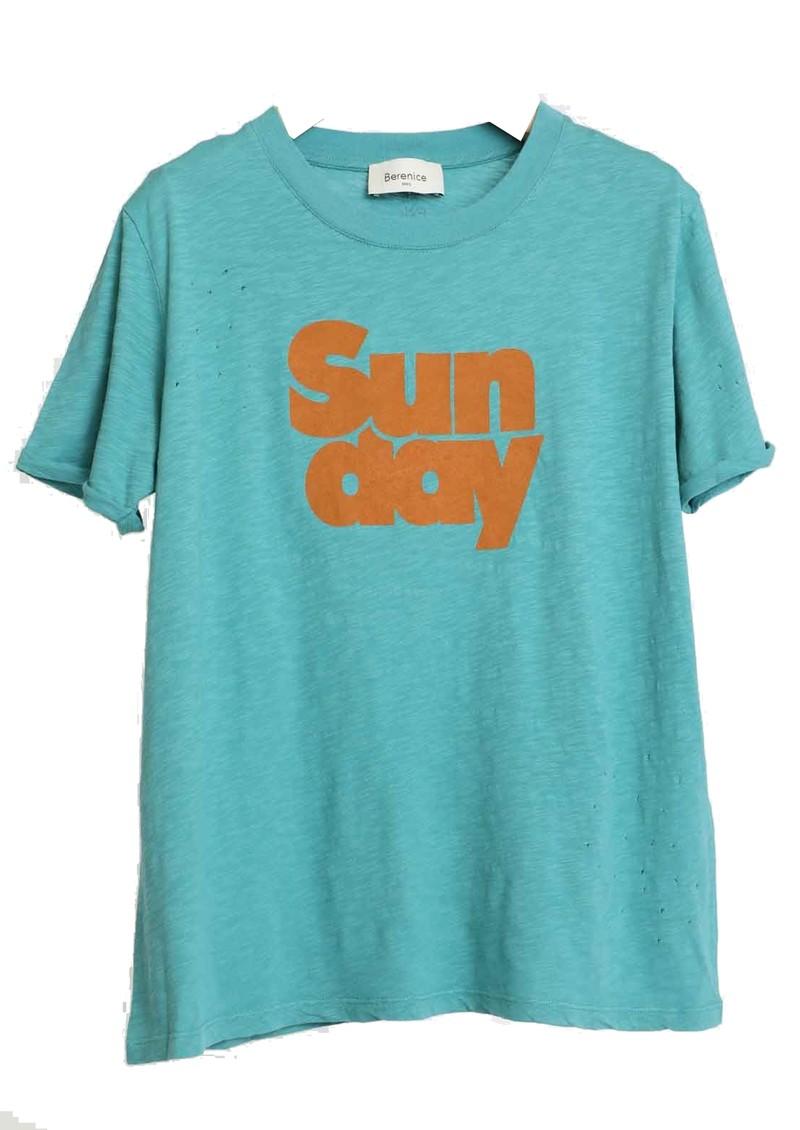 BERENICE Sunday Slogan T-Shirt - Caraibes main image