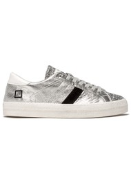 D.A.T.E Hill Low Trainers - Silver Glitter