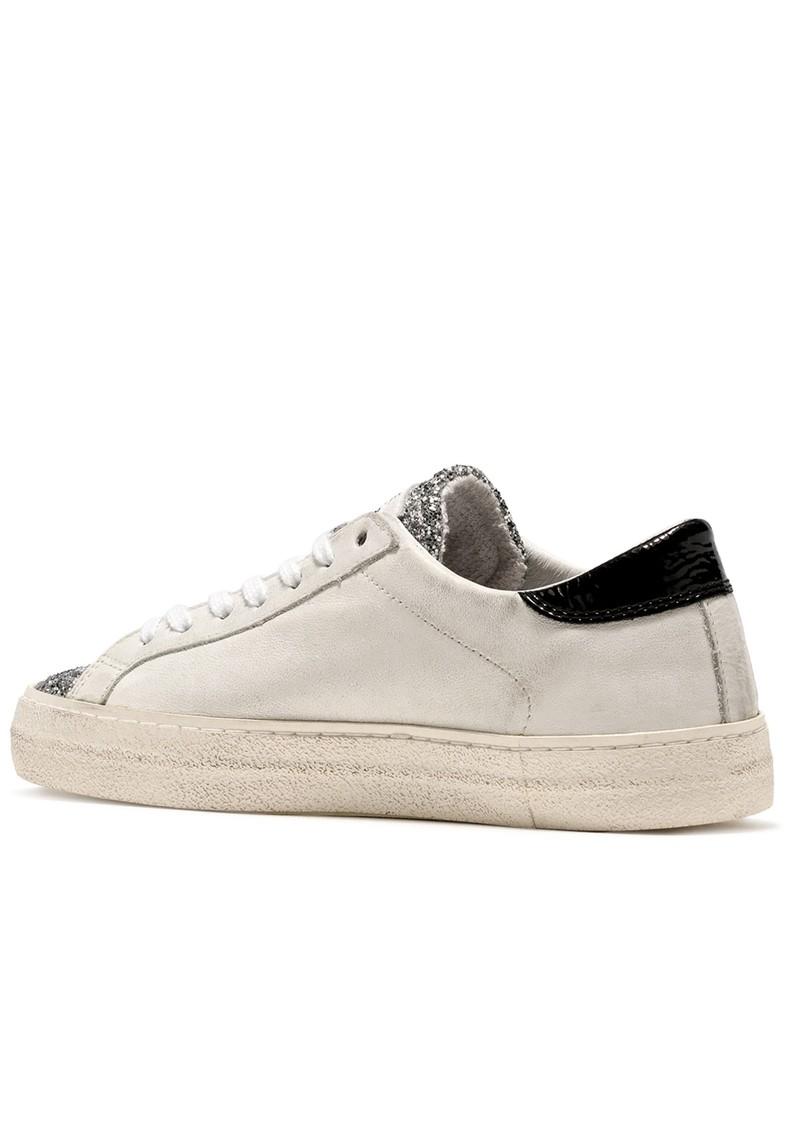D.A.T.E Hill Low Trainers - Vintage White & Black main image
