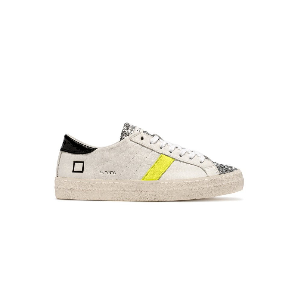 Hill Low Trainers - Vintage White & Black