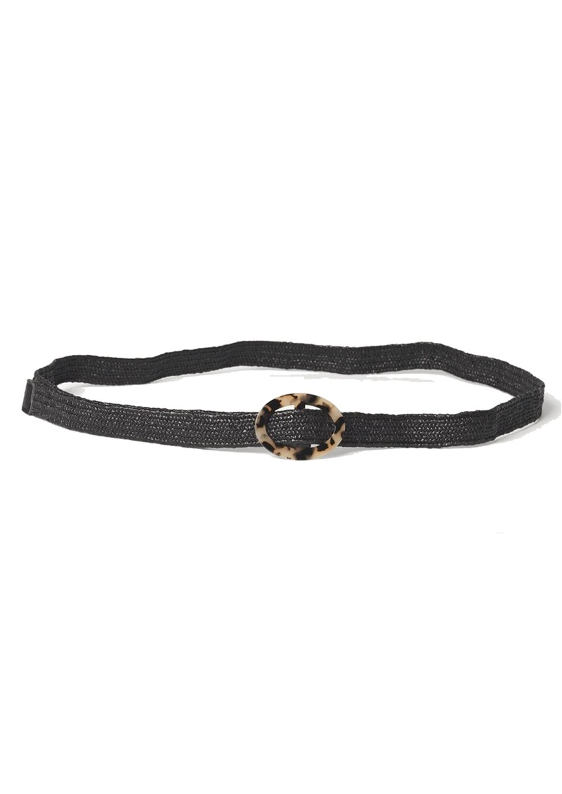 Becksondergaard Zia Sold Straw Belt - Black main image