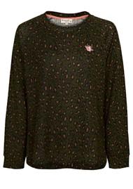 NOOKI Basher Sweater - Khaki Leopard