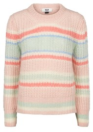 MOLIIN Aria Striped Jumper - Neptune Green