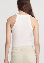 J Brand Claire Ribbed Tank Top - White