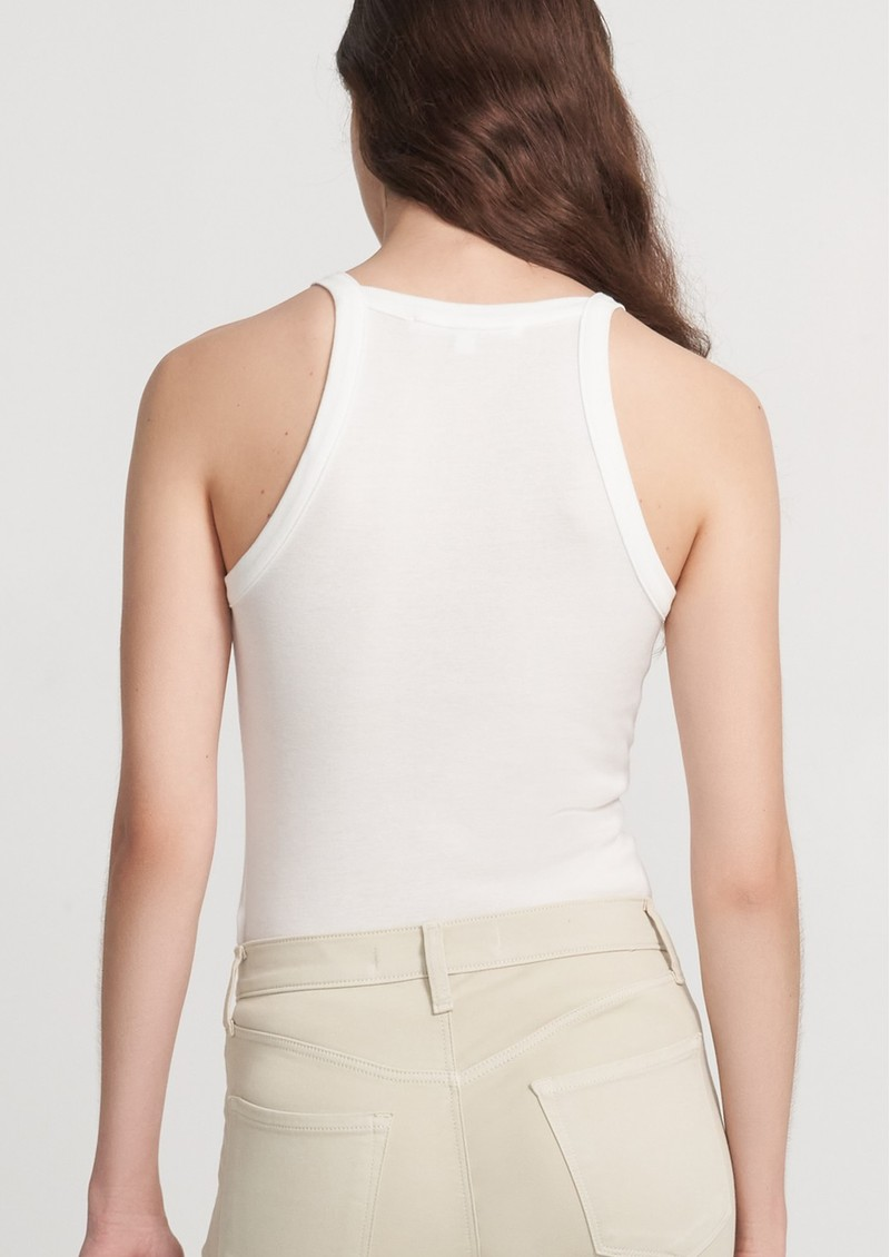 J Brand Claire Ribbed Tank Top - White main image