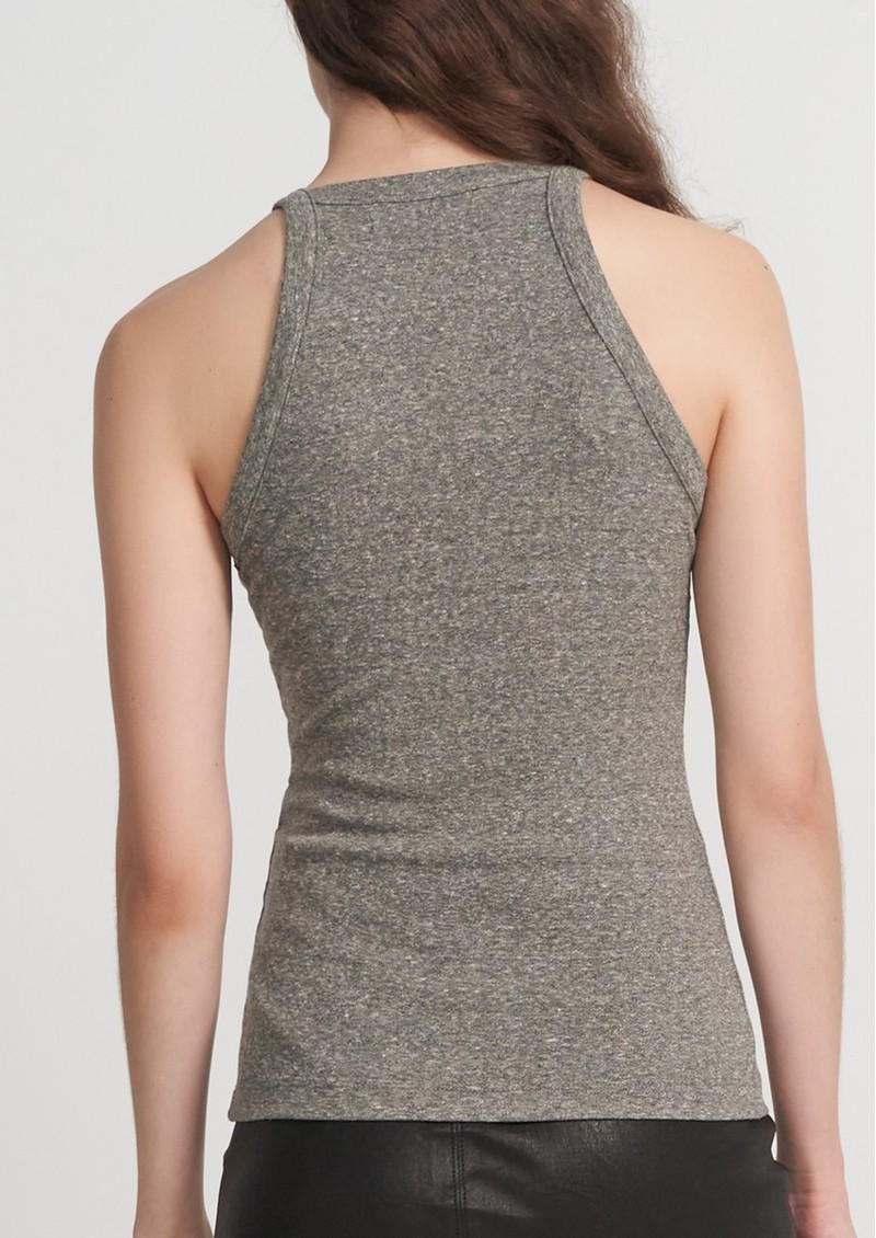 J Brand Claire Ribbed Tank Top - Heather Grey main image