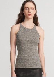 J Brand Claire Ribbed Tank Top - Heather Grey