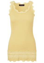 Rosemunde Wide Lace Silk Blend Tank - Vanilla Yellow