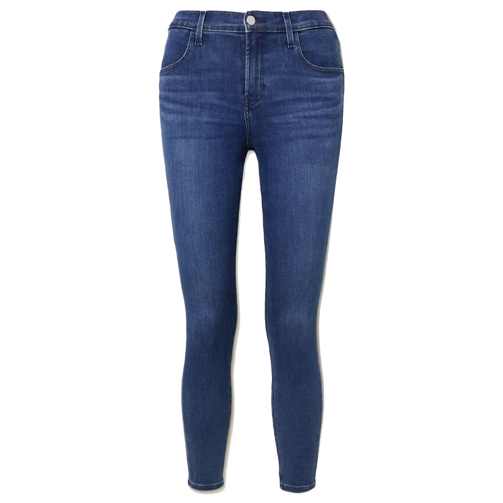 Alana High Rise Crop Skinny Jeans - Intrepid