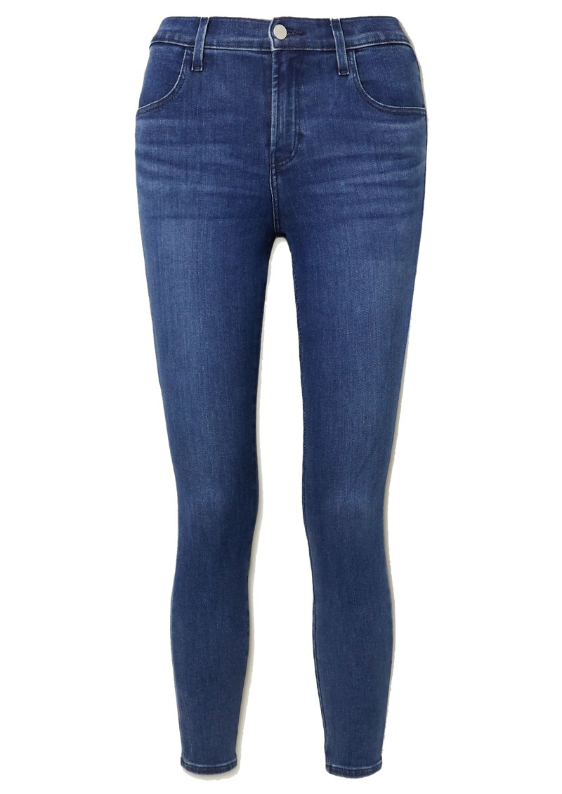 J Brand Alana High Rise Crop Skinny Jeans - Intrepid main image