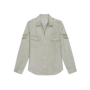 Conrad Shirt - Pistachio Arrow Patch