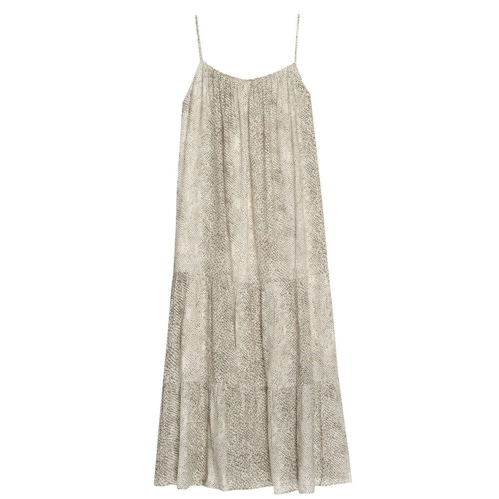 Adora Dress - Cream Snakeskin