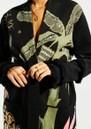 HAYLEY MENZIES Drinking Tiger Cotton Jacquard Cardigan - Black