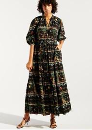 HAYLEY MENZIES Midnight Safari Organic Cotton Midi Shirt Dress - Safari Black