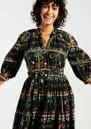 Midnight Safari Organic Cotton Midi Shirt Dress - Safari Black additional image