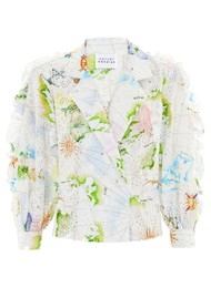 HAYLEY MENZIES Paradise Found Tux Shirt - White Multi