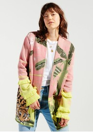 HAYLEY MENZIES Drinking Tiger Cotton Jacquard Cardigan - Pink