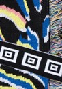 Shimmering Tiger Cotton Jacquard Cardigan - Black additional image