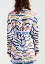 Shimmering Tiger Cotton Jacquard Cardigan - White additional image