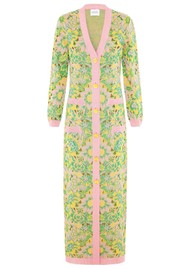 HAYLEY MENZIES Samui Blooms Jacquard Maxi Cardi Dress - Pink & Green