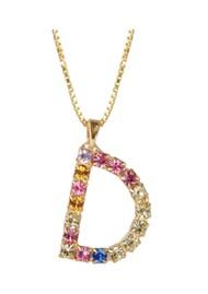 CAROLINE SVEDBOM Initial D Letter Necklace - Gold