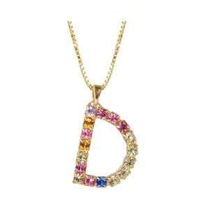 Initial D Letter Necklace - Gold