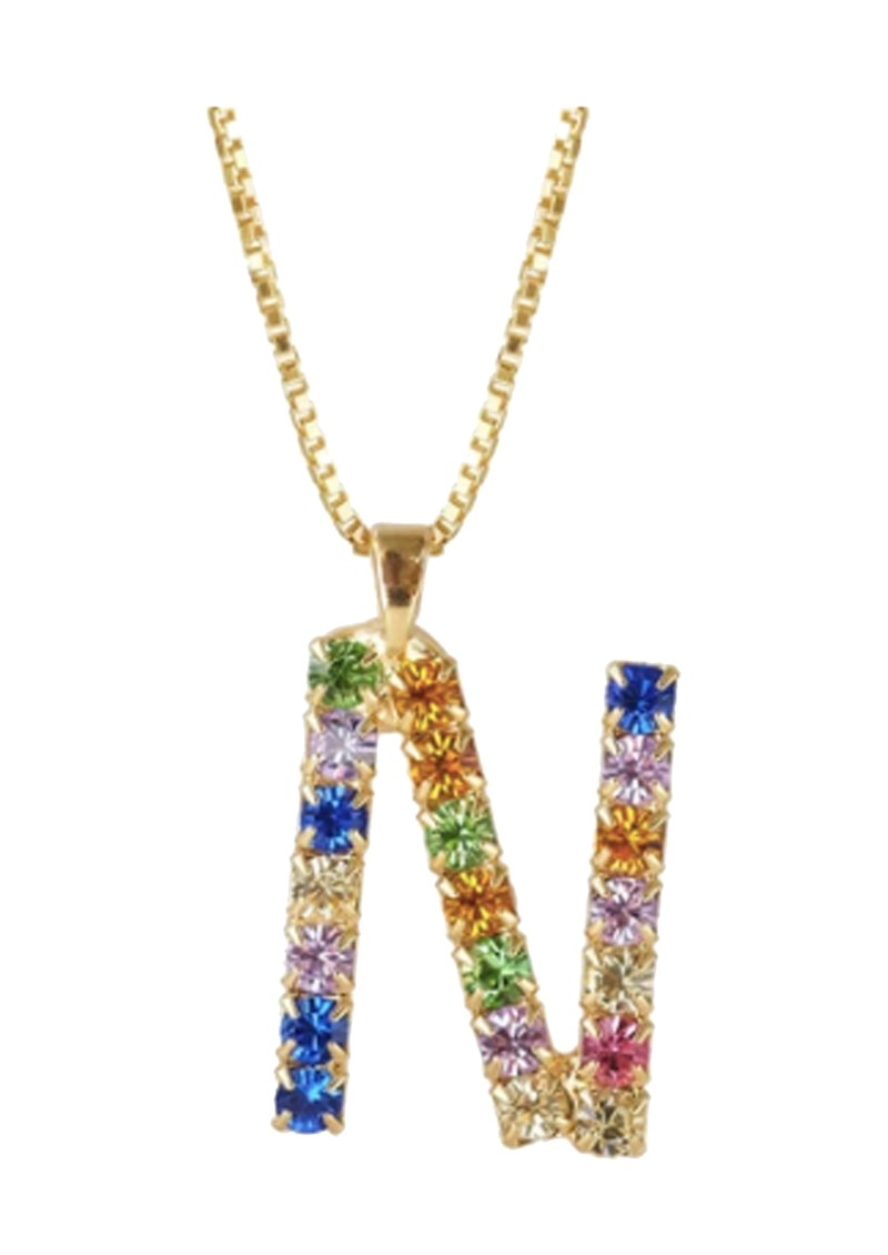 CAROLINE SVEDBOM Initial N Letter Necklace - Gold main image