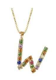 CAROLINE SVEDBOM Initial W Letter Necklace - Gold