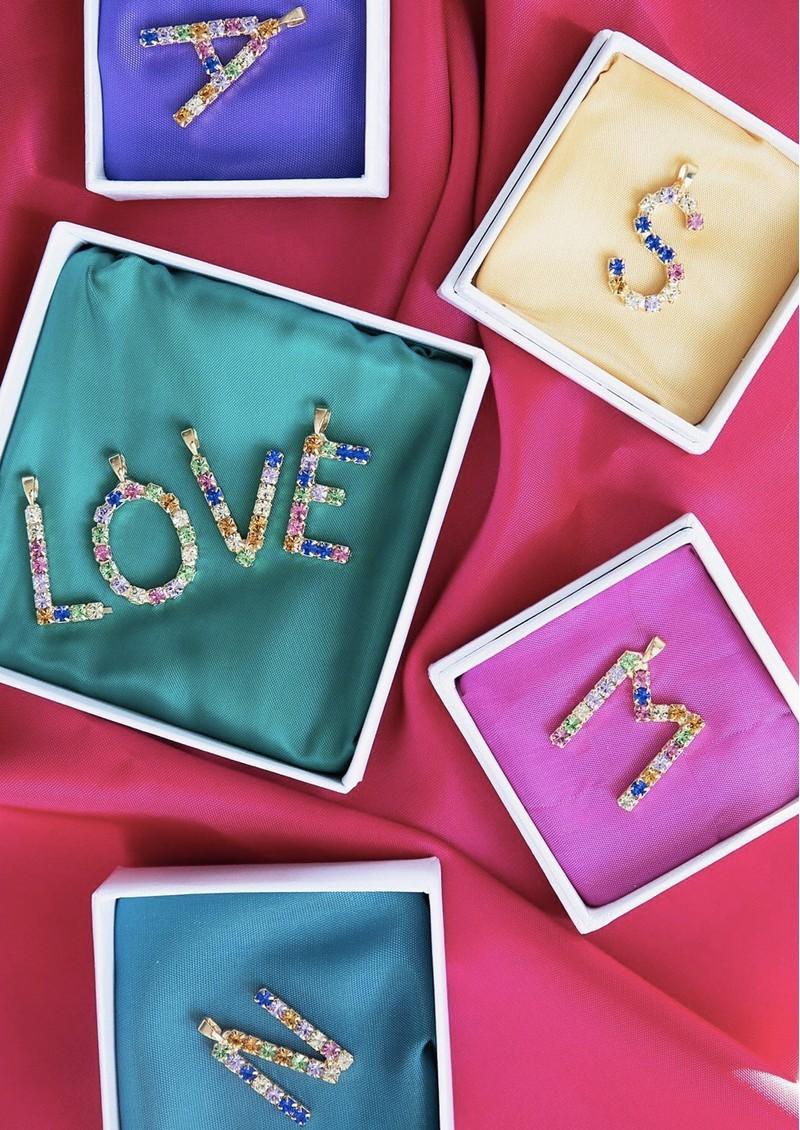 CAROLINE SVEDBOM Initial W Letter Necklace - Gold main image