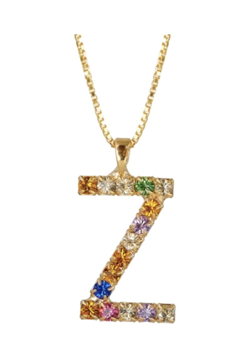 CAROLINE SVEDBOM Initial Z Letter Necklace - Gold main image