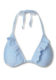 Becksondergaard Striba Ailis Bikini Top - Blue