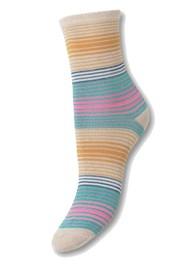 Becksondergaard Imma Thin Stripe Socks - Silver Gray